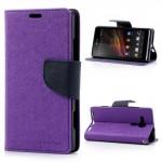 Pouzdro Wallet - Xperia SP - fialové/tmavě modré