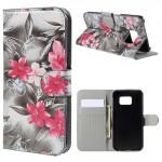 Pouzdro Samsung Galaxy S6 Edge - Květy 04