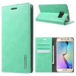 Pouzdro Blue Moon Fip Samsung Galaxy S6 Edge - tyrkysové