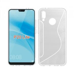 Pouzdro S-Curve Huawei P20 Lite - průhledné