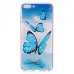 Pouzdro Huawei P Smart - průhledné - Motýli
