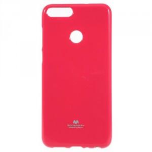 Pouzdro Huawei P Smart - Jelly Case - tmavě růžové