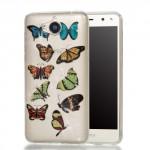 Pouzdro Huawei Y6 2017 - průhledné - třpytivé - Motýli 01