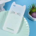 Pouzdro Xiaomi Redmi 4a - Kočka - průhledná