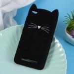 Pouzdro Xiaomi Redmi 4a - Kočka - černá
