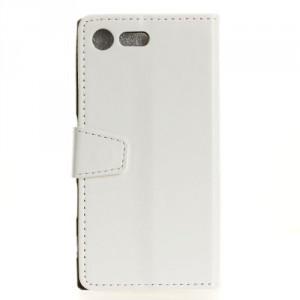 Koženkové pouzdro Xperia XZ1 Compact - Bílé