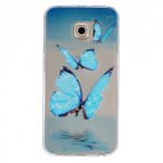 Pouzdro Galaxy S6 Edge - průhledné - Motýli