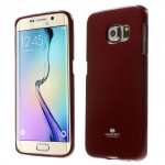 Pouzdro Jelly Case Galaxy S6 Edge - Červené