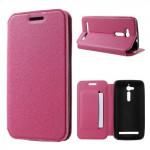Koženkové pouzdro Zenfone Go ZB500KL - třpytivé - růžové