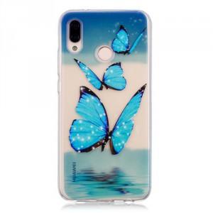 Pouzdro Huawei P20 Lite - průhledné - Motýli 03