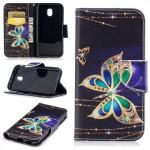 Koženkové pouzdro Galaxy J3 (2017) - Motýl 06