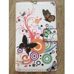 Sleva - koženkové pouzdro Wallet - Lumia 520 - Motýli 01