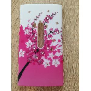 Tvrdý kryt - Lumia N920 - Květy s kamínky