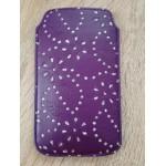 Koženkové pouzdro - Galaxy S5 i9600 - Tmavě fialové se štrasem