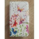 Koženkové pouzdro Wallet - Květy 16 - Galaxy S3 i9300