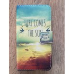 Sleva - koženkové pouzdro - Here comes the sun - Galaxy A3