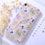 Pouzdro / Obal iPhone 7 , iPhone 8 - průhledné - Květy 03
