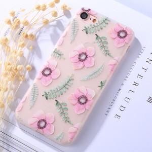 Pouzdro iPhone SE (2020), iPhone 7 , iPhone 8 - průhledné - Květy 05