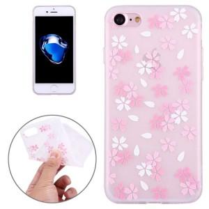 Pouzdro iPhone SE (2020), iPhone 7 , iPhone 8 - průhledné - Květy 08