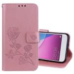 Koženkové pouzdro Huawei P9 Lite Mini - Růže - růžové