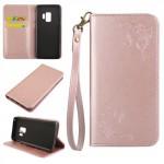Pouzdro Samsung Galaxy S9 - růžové - Květy