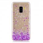 Pouzdro / Obal Galaxy A8 2018 - Průhledné - srdíčka
