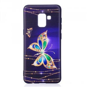 Pouzdro / Obal Galaxy A8 2018 - Motýl 01