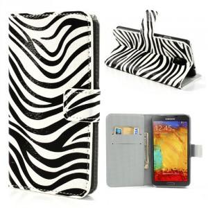Koženkové pouzdro Wallet - Galaxy Note 3 N9005 - Zebra