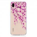 Obal Huawei P20 Lite - průhledný - Květy 03