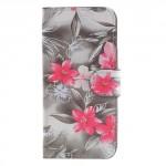 Koženkové pouzdro iPhone 7, iPhone 8 - Květy 01