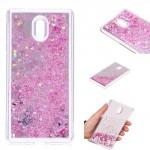 Obal Nokia 3 - tekuté třpytky, růžové