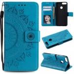 Pouzdro Huawei P Smart - Mandala - modrá
