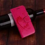 Pouzdro Huawei P Smart - Srdce - tmavě růžové