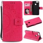 Pouzdro Huawei P Smart - Mandala - tmavě růžová