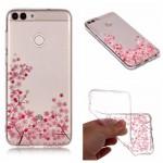 Pouzdro Huawei P Smart - průhledné - Květy 01