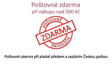 Poštovné zdarma při nákupu nad 500 Kč